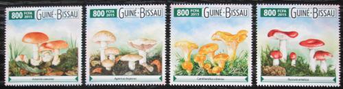 Poštovní známky Guinea-Bissau 2015 Houby Mi# 8030-33 Kat 12€