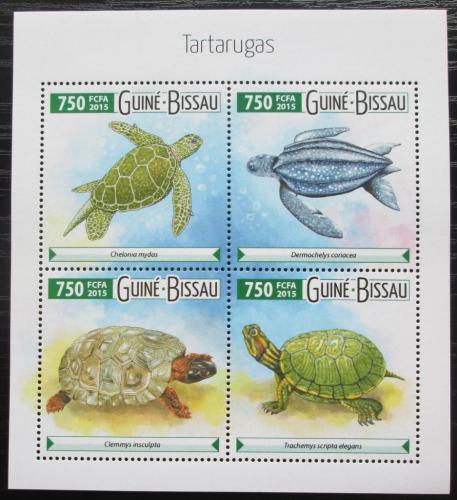 Poštovní známka Guinea-Bissau 2015 Želvy Mi# 8021-24 Kat 12€