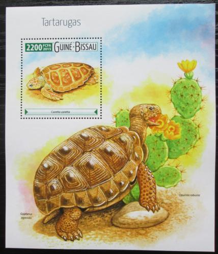 Poštovní známka Guinea-Bissau 2015 Želvy Mi# Block 1396 Kat 8.50€