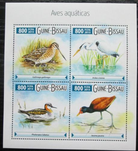 Poštovní známky Guinea-Bissau 2015 Vodní ptáci Mi# 8026-29 Kat 12€