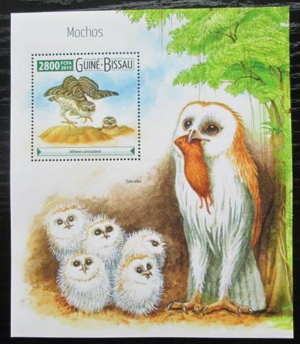 Poštovní známka Guinea-Bissau 2015 Sovy Mi# Block 1401 Kat 11€