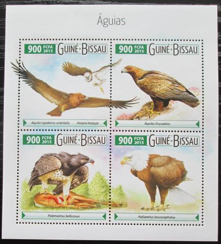 Poštovní známky Guinea-Bissau 2015 Dravci Mi# 8059-62 Kat 14€