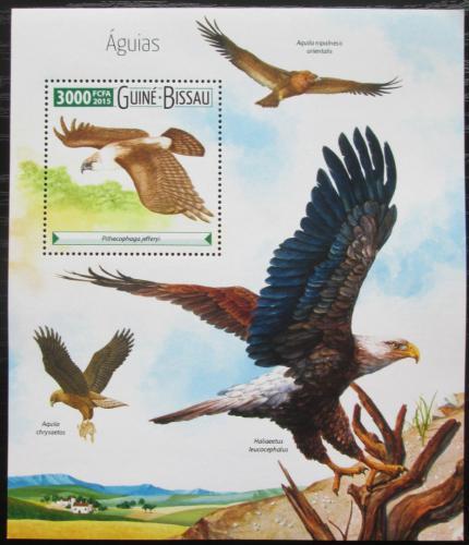 Poštovní známka Guinea-Bissau 2015 Dravci Mi# Block 1402 Kat 12€