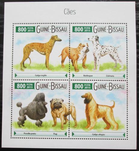 Poštovní známky Guinea-Bissau 2015 Psi Mi# 8040-43 Kat 12€