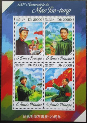 Poštovní známky Svatý Tomáš 2013 Mao Ce-tung Mi# 5406-09 Kat 8€