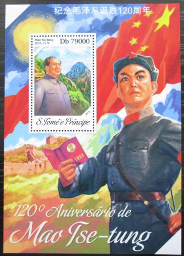 Poštovní známka Svatý Tomáš 2013 Mao Ce-tung Mi# Block 941 Kat 8€