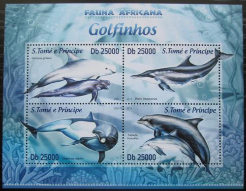 Poštovní známky Svatý Tomáš 2013 Delfíni Mi# 5151-54 Kat 10€