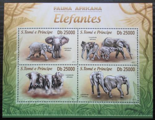 Poštovní známky Svatý Tomáš 2013 Sloni Mi# 5128-31 Kat 10€