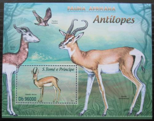 Poštovní známka Svatý Tomáš 2013 Gazely Mi# Block 883 Kat 10€