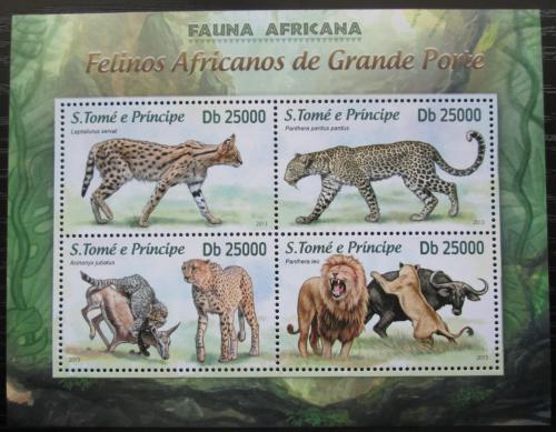 Poštovní známky Svatý Tomáš 2013 Koèkovité šelmy Mi# 5132-35 Kat 10€