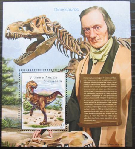 Poštovní známka Svatý Tomáš 2014 Dinosauøi Mi# Block 976 Kat 10€