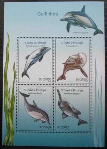 Poštovní známky Svatý Tomáš 2014 Delfíni Mi# 5609-12 Kat 10€