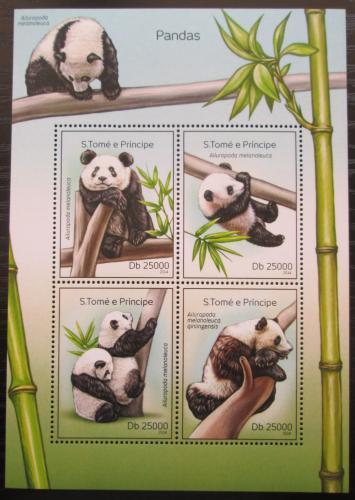 Poštovní známky Svatý Tomáš 2014 Pandy Mi# 5604-07 Kat 10€