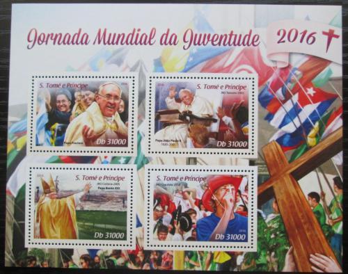 Poštovní známky Svatý Tomáš 2016 Svìtový den mládeže Mi# 6806-09 Kat 12€