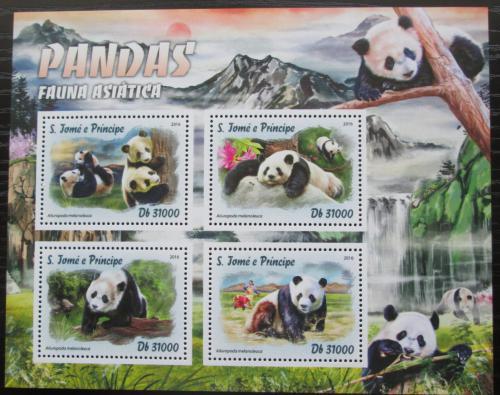 Poštovní známky Svatý Tomáš 2016 Asijské pandy Mi# 6761-64 Kat 12€