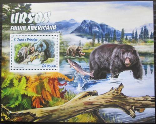 Poštovní známka Svatý Tomáš 2016 Ameriètí medvìdi Mi# Block 1206 Kat 10€