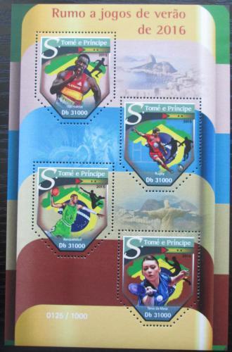 Poštovní známky Svatý Tomáš 2015 LOH Rio de Janeiro Mi# 6490-93 Kat 12€