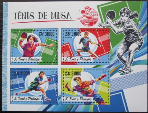 Poštovní známky Svatý Tomáš 2016 Stolní tenis Mi# 6981-84 Kat 12€