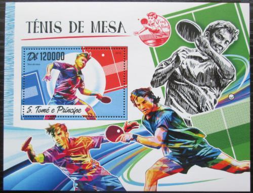 Poštovní známka Svatý Tomáš 2016 Stolní tenis Mi# Block 1246 Kat 12€