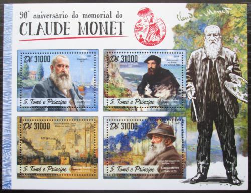 Poštovní známky Svatý Tomáš 2016 Umìní, Claude Monet Mi# 6926-29 Kat 12€