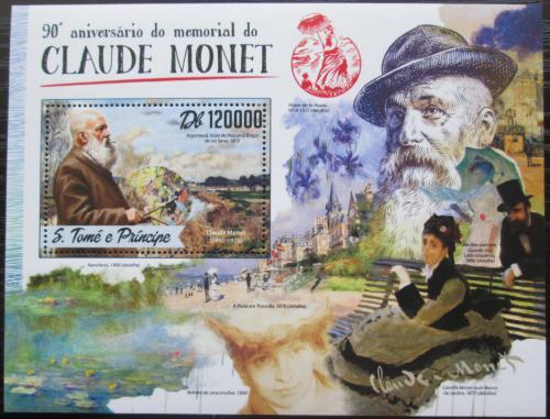 Poštovní známka Svatý Tomáš 2016 Umìní, Claude Monet Mi# Block 1235 Kat 12€