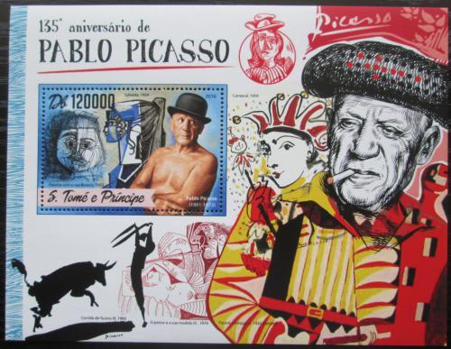 Poštovní známka Svatý Tomáš 2016 Umìní, Pablo Picasso Mi# Block 1239 Kat 12€