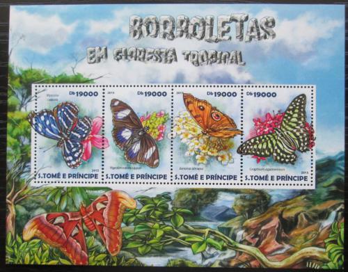 Poštovní známky Svatý Tomáš 2015 Motýli Mi# 6121-24