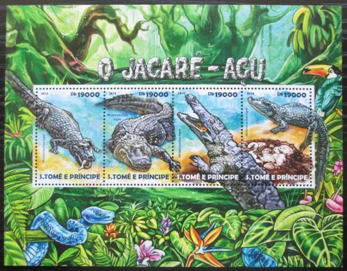 Poštovní známky Svatý Tomáš 2015 Kajman èerný Mi# 6136-39