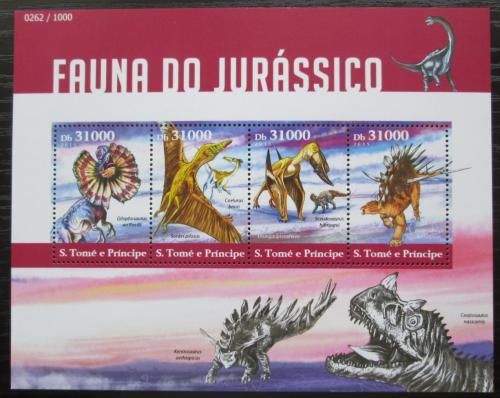 Poštovní známky Svatý Tomáš 2015 Dinosauøi Mi# 6198-6201 Kat 12€
