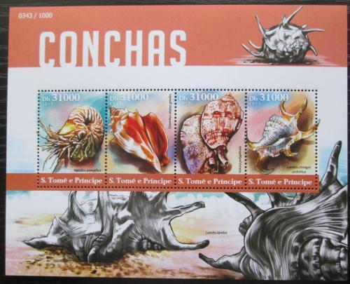 Poštovní známky Svatý Tomáš 2015 Mušle Mi# 6315-18 Kat 12€
