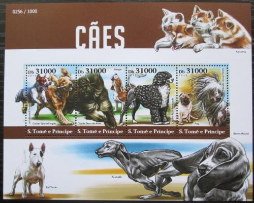 Poštovní známky Svatý Tomáš 2015 Psi Mi# 6340-43 Kat 12€
