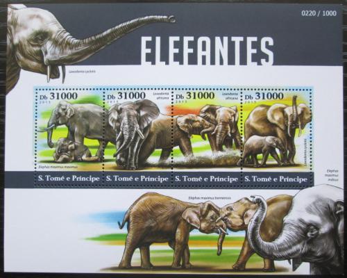 Poštovní známky Svatý Tomáš 2015 Sloni Mi# 6335-38 Kat 12€