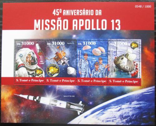 Poštovní známky Svatý Tomáš 2015 Mise Apollo 13 Mi# 6258-61 Kat 12€