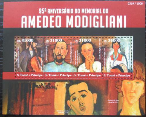 Poštovní známky Svatý Tomáš 2015 Umìní, Amedeo Modigliani Mi# 6243-46 Kat 12€