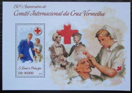 Poštovní známka Svatý Tomáš 2013 Èervený køíž, 150. výroèí Mi# Block 902 Kat 10€