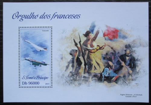 Poštovní známka Svatý Tomáš 2013 Francouzské symboly Mi# Block 904 Kat 10€