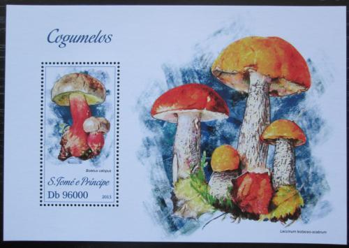 Poštovní známka Svatý Tomáš 2013 Houby Mi# Block 894 Kat 10€
