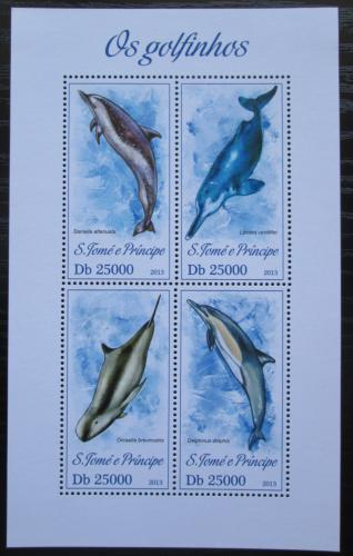 Poštovní známky Svatý Tomáš 2013 Delfíni Mi# 5296-99 Kat 10€