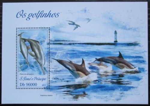 Poštovní známka Svatý Tomáš 2013 Delfíni Mi# Block 919 Kat 10€