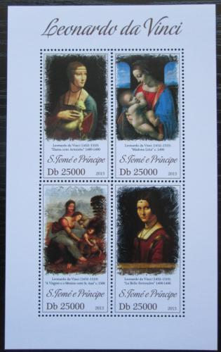 Poštovní známky Svatý Tomáš 2013 Umìní, Leonardo da Vinci Mi# 5306-09 Kat 10€