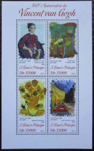 Poštovní známky Svatý Tomáš 2013 Umìní, Vincent van Gogh Mi# 5316-19 Kat 10€