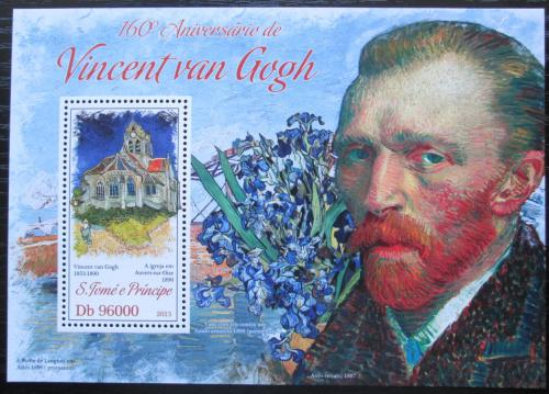 Poštovní známka Svatý Tomáš 2013 Umìní, Vincent van Gogh Mi# Block 923 Kat 10€