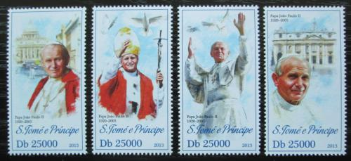 Poštovní známky Svatý Tomáš 2013 Papež Jan Pavel II. Mi# 5331-34 Kat 10€