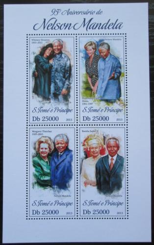 Poštovní známky Svatý Tomáš 2013 Nelson Mandela Mi# 5336-39 Kat 10€