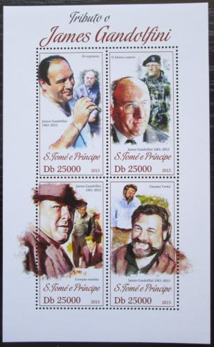 Poštovní známky Svatý Tomáš 2013 James Gandolfini, herec Mi# 5341-44 Kat 10€