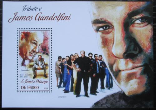 Poštovní známka Svatý Tomáš 2013 James Gandolfini, herec Mi# Block 928 Kat 10€