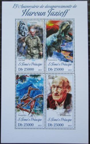 Poštovní známky Svatý Tomáš 2013 Haroun Tazieff, vulkanolog Mi# 5321-24 Kat 10€