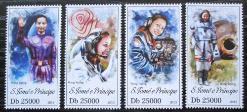Poštovní známky Svatý Tomáš 2013 Wang Yaping, kosmonautka Mi# 5346-49 Kat 10€