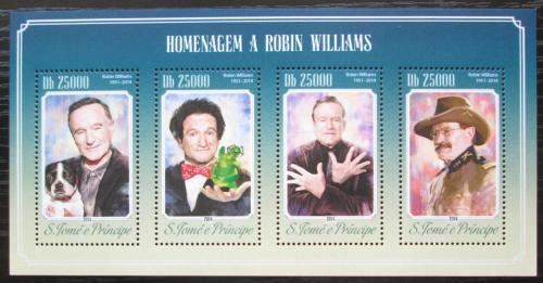 Poštovní známky Svatý Tomáš 2014 Robin Williams, herec Mi# 5870-73 Kat 10€