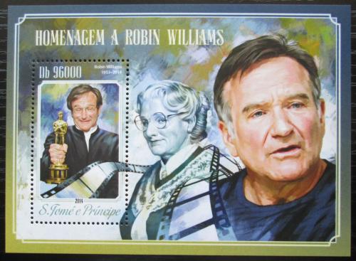 Poštovní známka Svatý Tomáš 2014 Robin Williams, herec Mi# Block 1030 Kat 10€